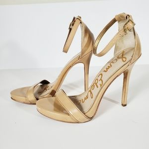 Sam Edelman Eleanor Beige Open Toe Pump Size 6.5